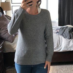 J. Crew grey waffle sweater